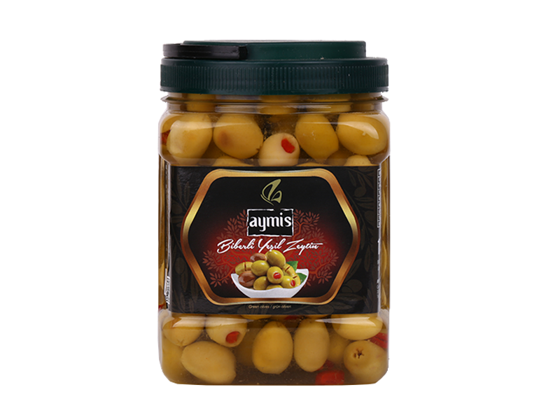 Green Olives With Pepper 1 kg